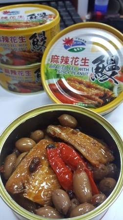 麻辣花生鰻魚罐頭-整箱
